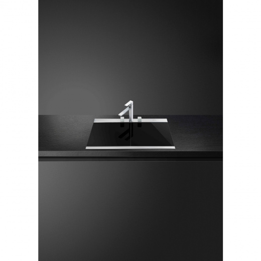 LQVN8622 | 90CM Sink with Black Glass Chopping Boards