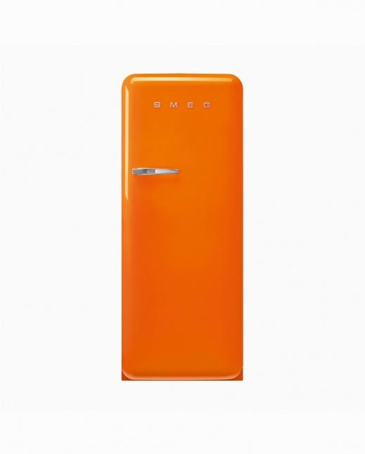 FAB28ROR5   50s Style Single Door Refrigerator, Inverter, Orange, 270L