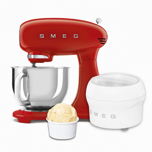 BUNDLE: Stand Mixer Full Red and Ice Cream Maker
