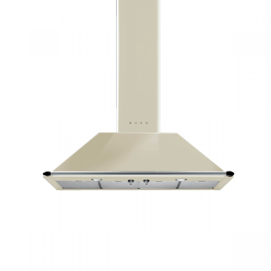 KT110PE | 110CM VICTORIA WALL HOOD (TRAPEZOID SHAPED) - CREAM