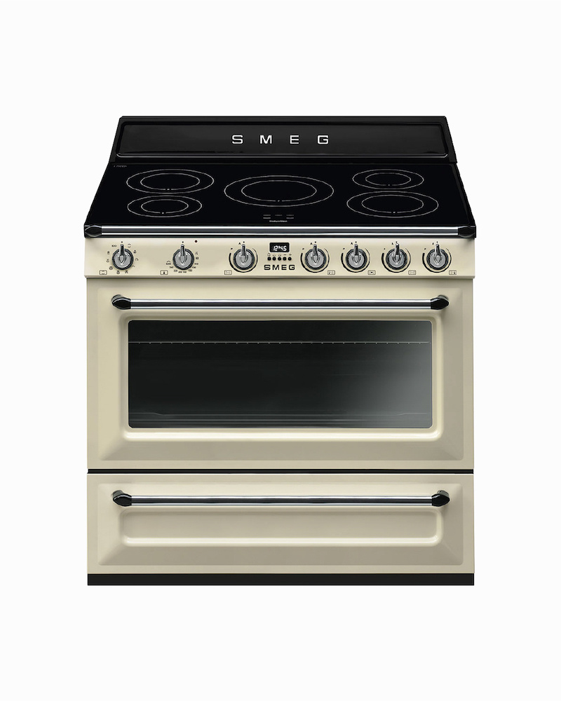 TR90IP9 | 90CM Cream Victoria Cooker 5-Zone Induction Hob With Single Electric Oven With Rotisserie Function 115L