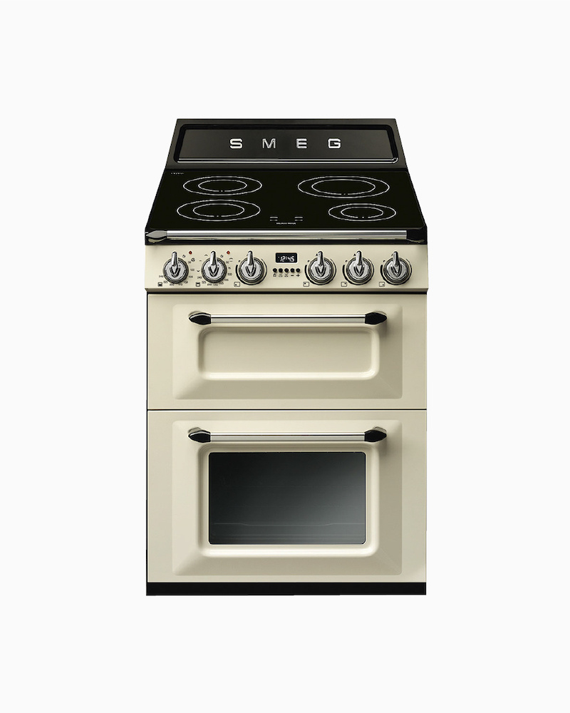 TR62IP | 60cm Cream Victoria Cooker 4-Zone Induction Hob With Dual Electric Ovens