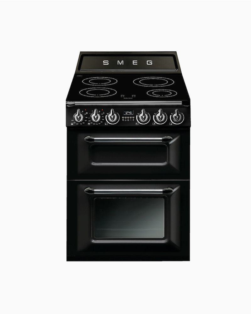 TR62IBL | 60cm Black Victoria Cooker 4-Zone Induction Hob With Dual Electric Ovens