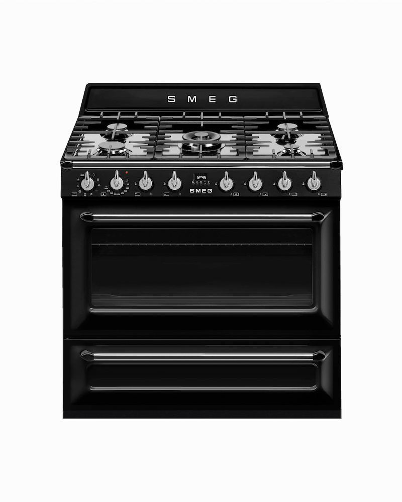 TR90BL9 | 90CM Black Victoria Cooker with Single Oven & Gas Hob