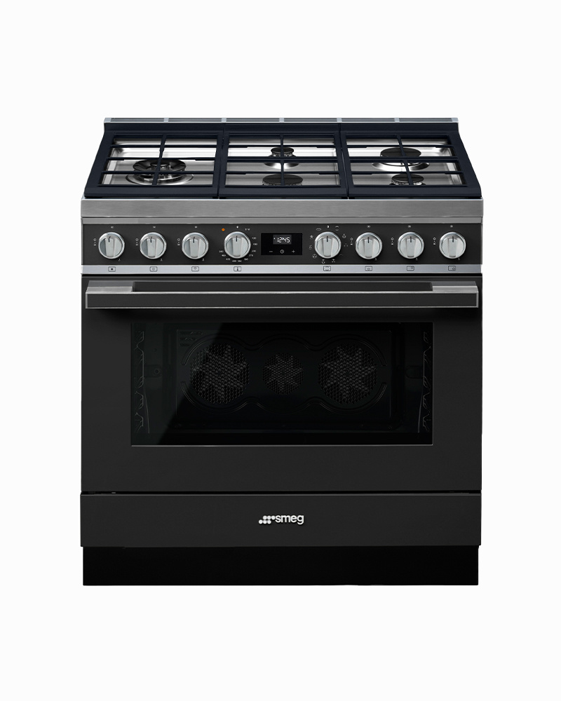CPF36UGMAN | 90CM Anthracite Portofino Cooker with 5-Burner Gas Hob with Thermo-ventilated Oven
